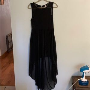 Black flowy high low dress